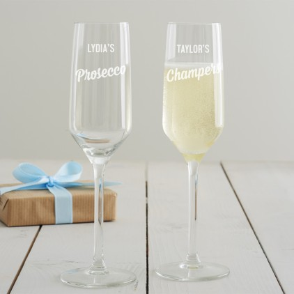 Personalised Prosecco Glass