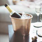Hammered Copper Bottle Cooler Lifestyle Detail