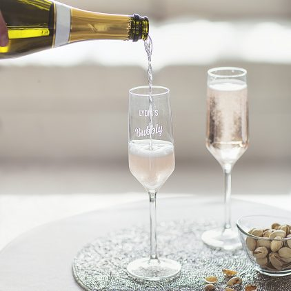 Personalised Prosecco Glass Lifestyle