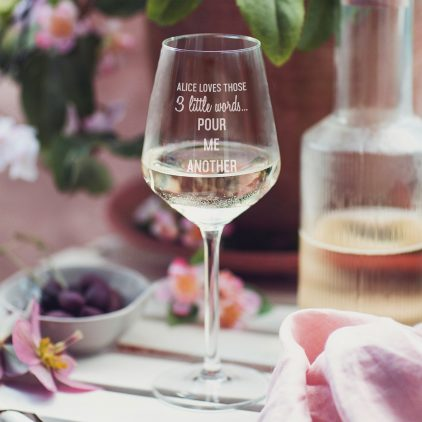 Personalised Pour Me Another Wine Glass Lifestyle