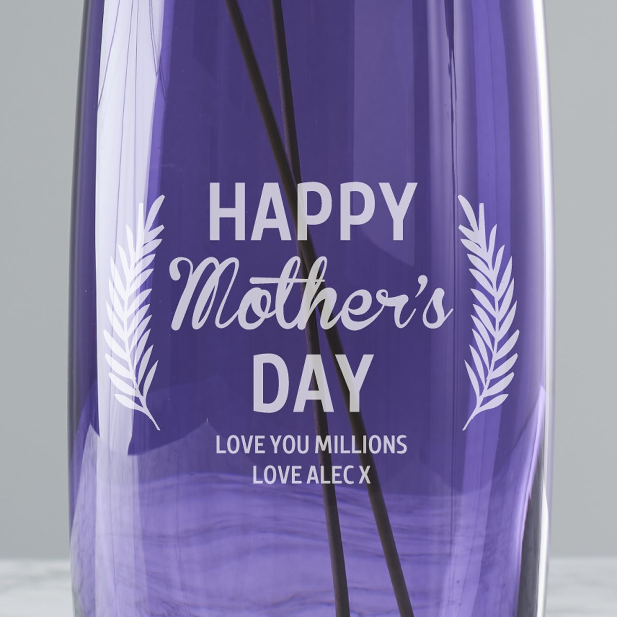 Personalised Coloured Vase for Mother's Day