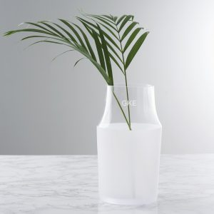 Personalised Initials Frosted Vase