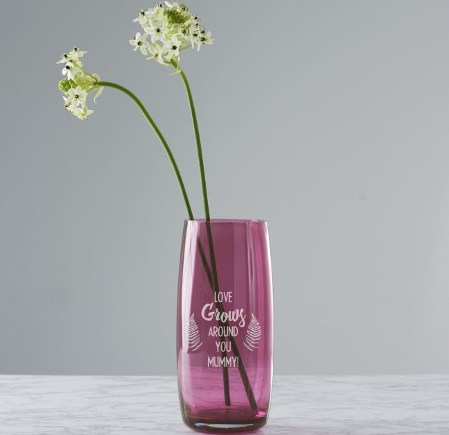 Personalised 'Love Grows' Coloured Vase