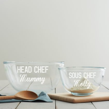 Personalised Mother's Day Mixing Bowl Set