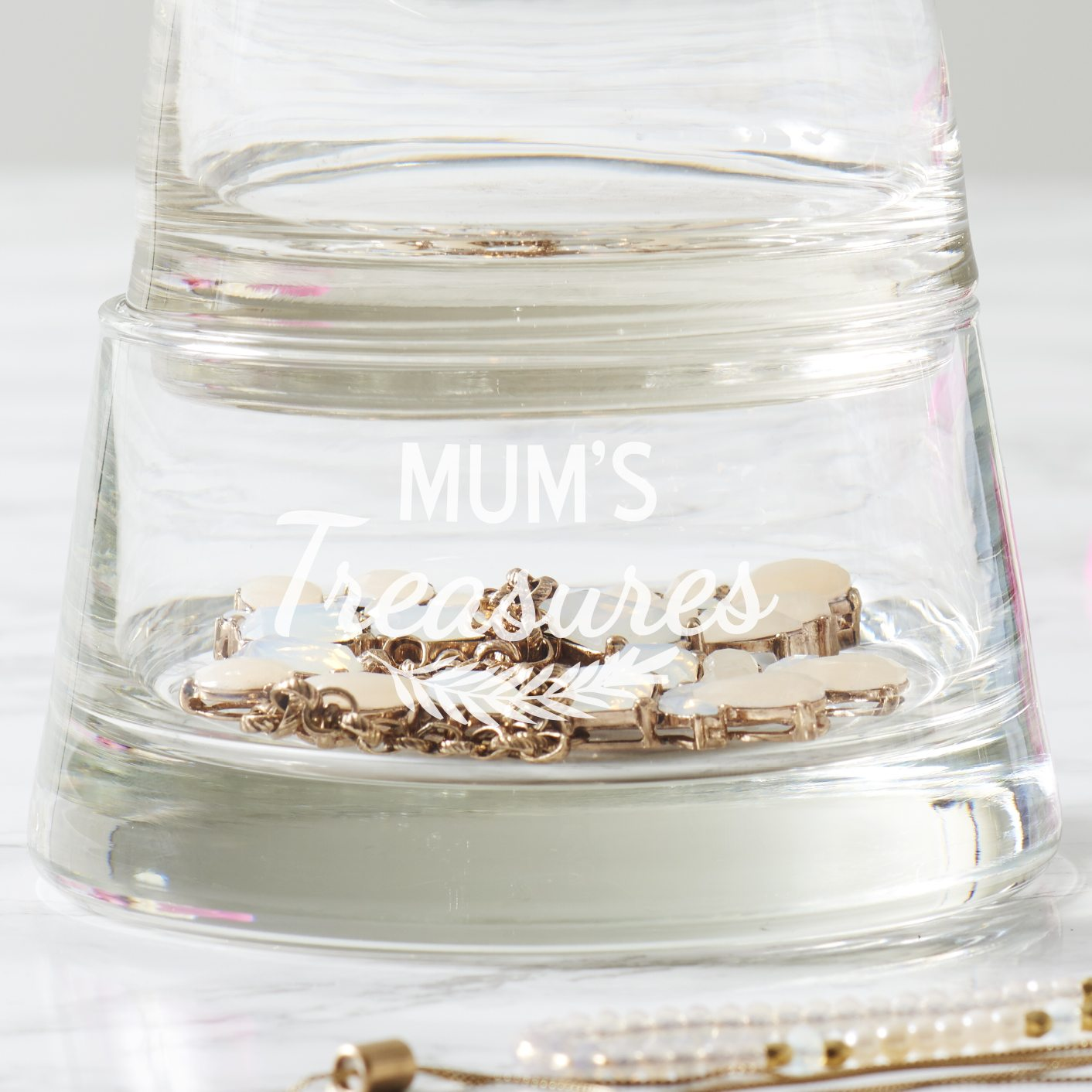 Personalised 'Mum's Jewellery' Storage Tower