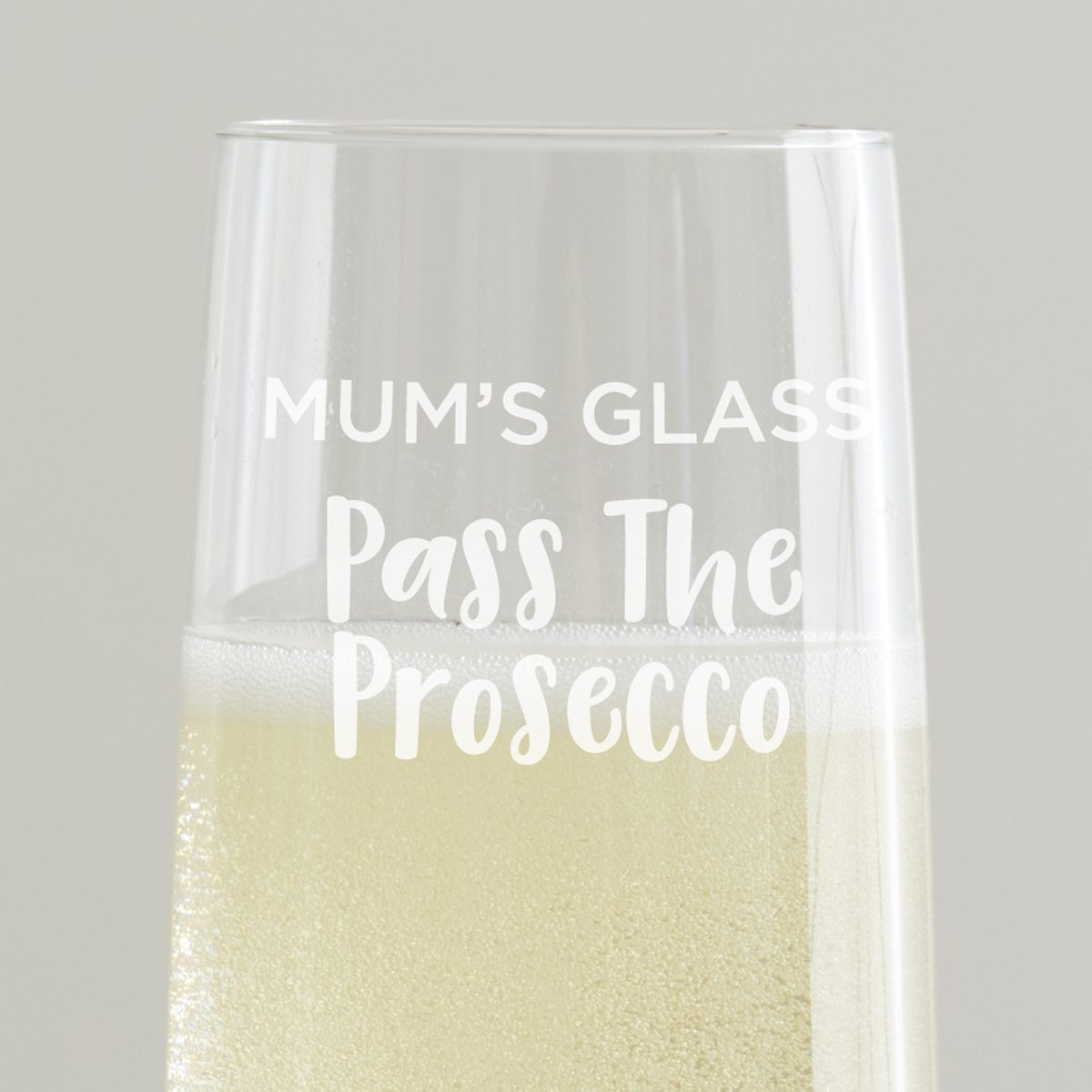 Personalised 'Pass the Prosecco' Glass Flute