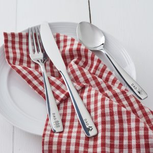 Personalised Adventure Cutlery Set For Dad