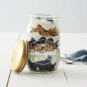 Healthy Eating Resolutions Breakfast Jar