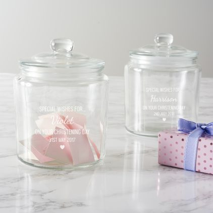 Personalised Christening Wishes Jar
