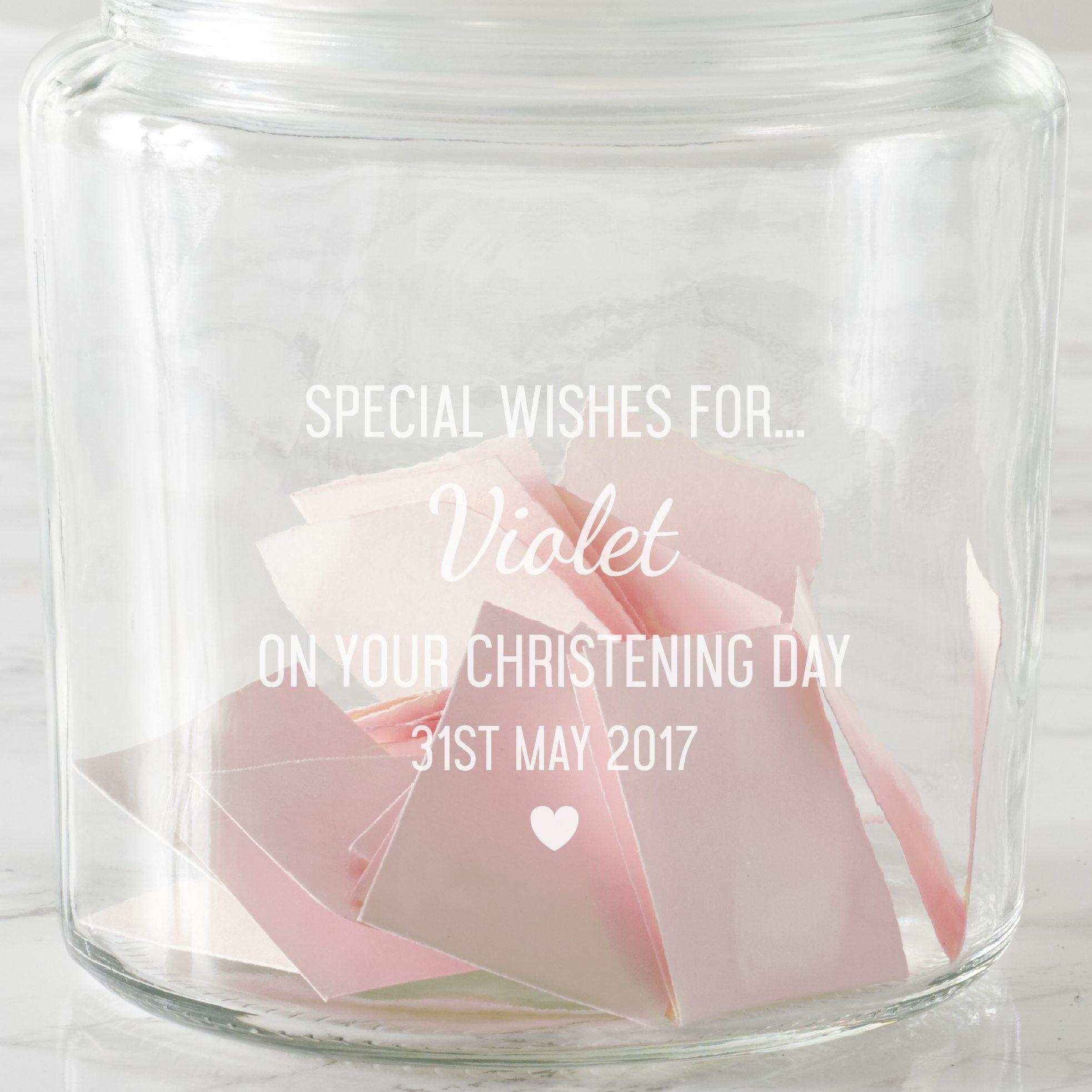Personalised Christening Wishes Jar