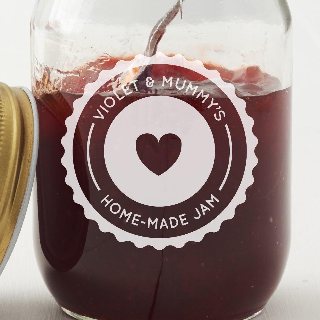 Personalised Jam Jar