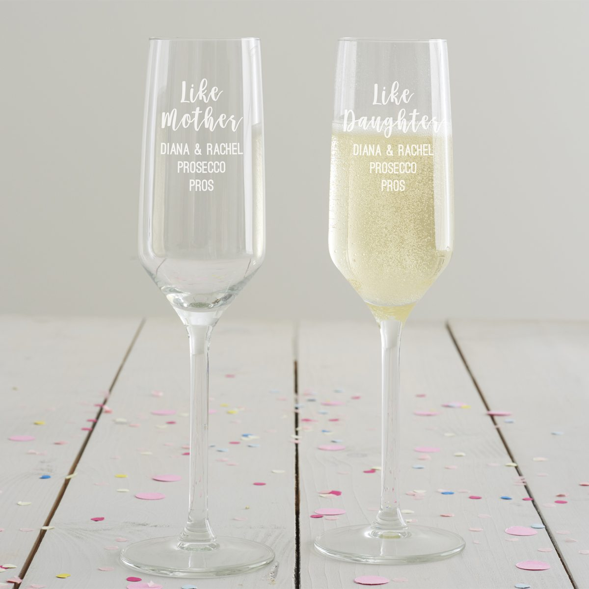 Personalised 'Like Mother, Like Daughter' Flute Set