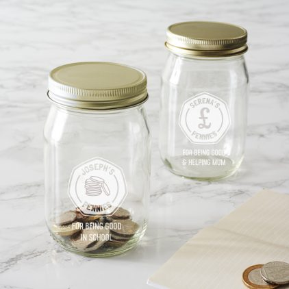 Personalised Money Jar For Kids