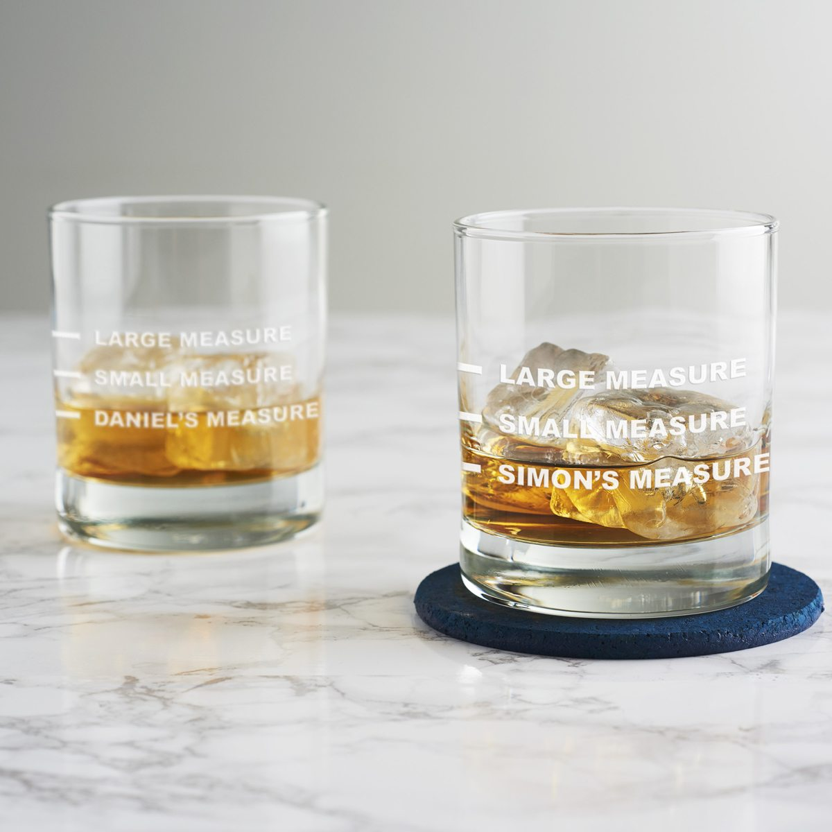 Personalised Small Measure Whisky Glass