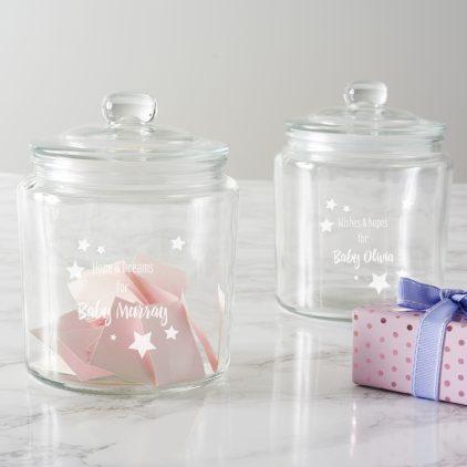 Personalised Stars Baby Shower Jar