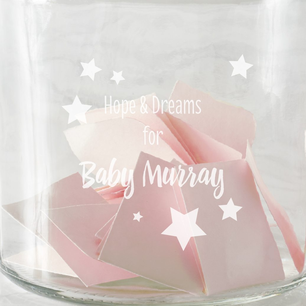 Personalised Stars Baby Shower Jar