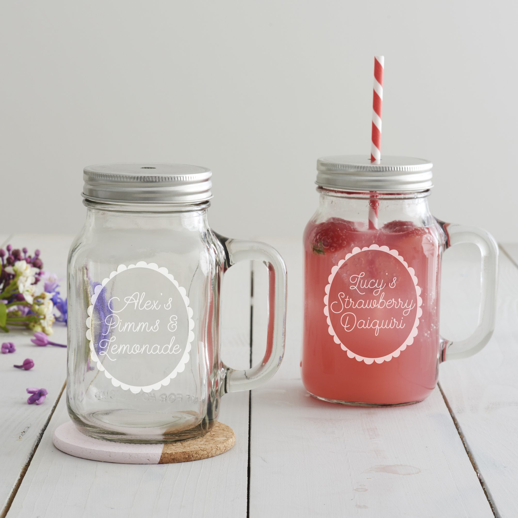 Personalised Summer Cocktail Handled Jar