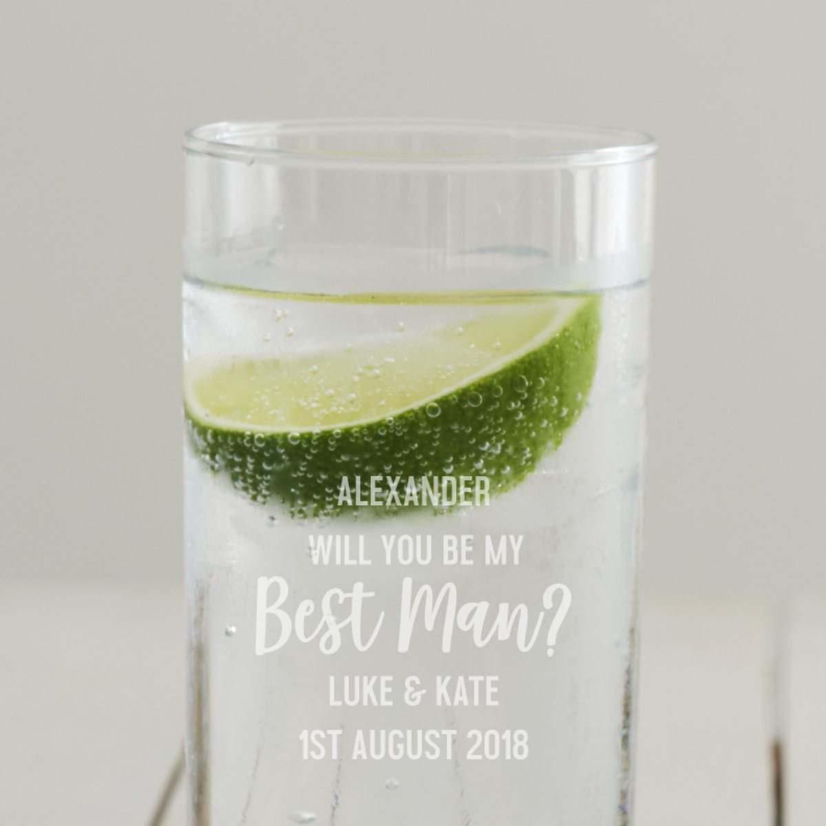 Personalised 'Will You Be My Best Man' Hi Ball Glass