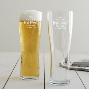 Personalised 'Will You Be My Best Man' Pint Glass