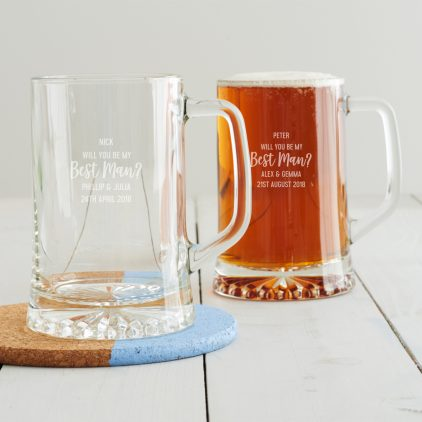 Personalised 'Will You Be My Best Man' Tankard