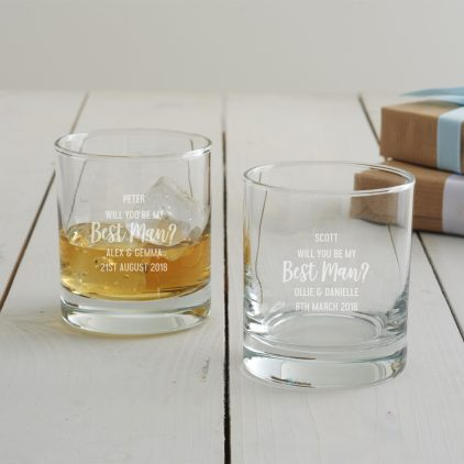 Personalised 'Will You Be My Best Man' Tumbler Glass