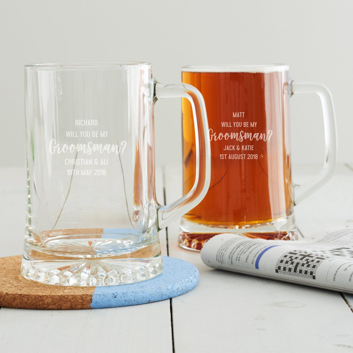Personalised 'Will You Be My Groomsman' Tankard