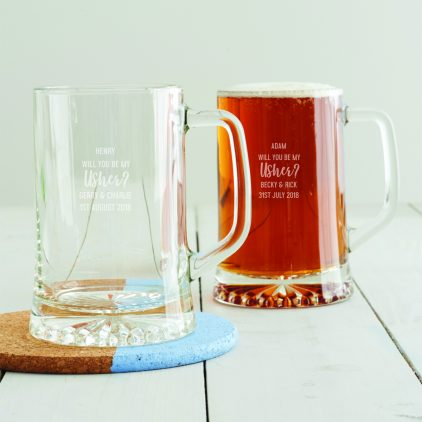 Personalised 'Will You Be My Usher' Tankard