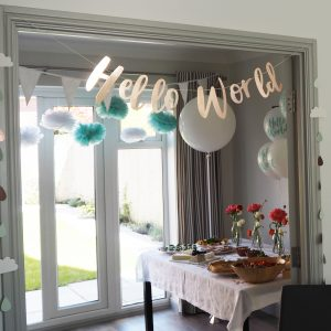 becky's baby shower decor