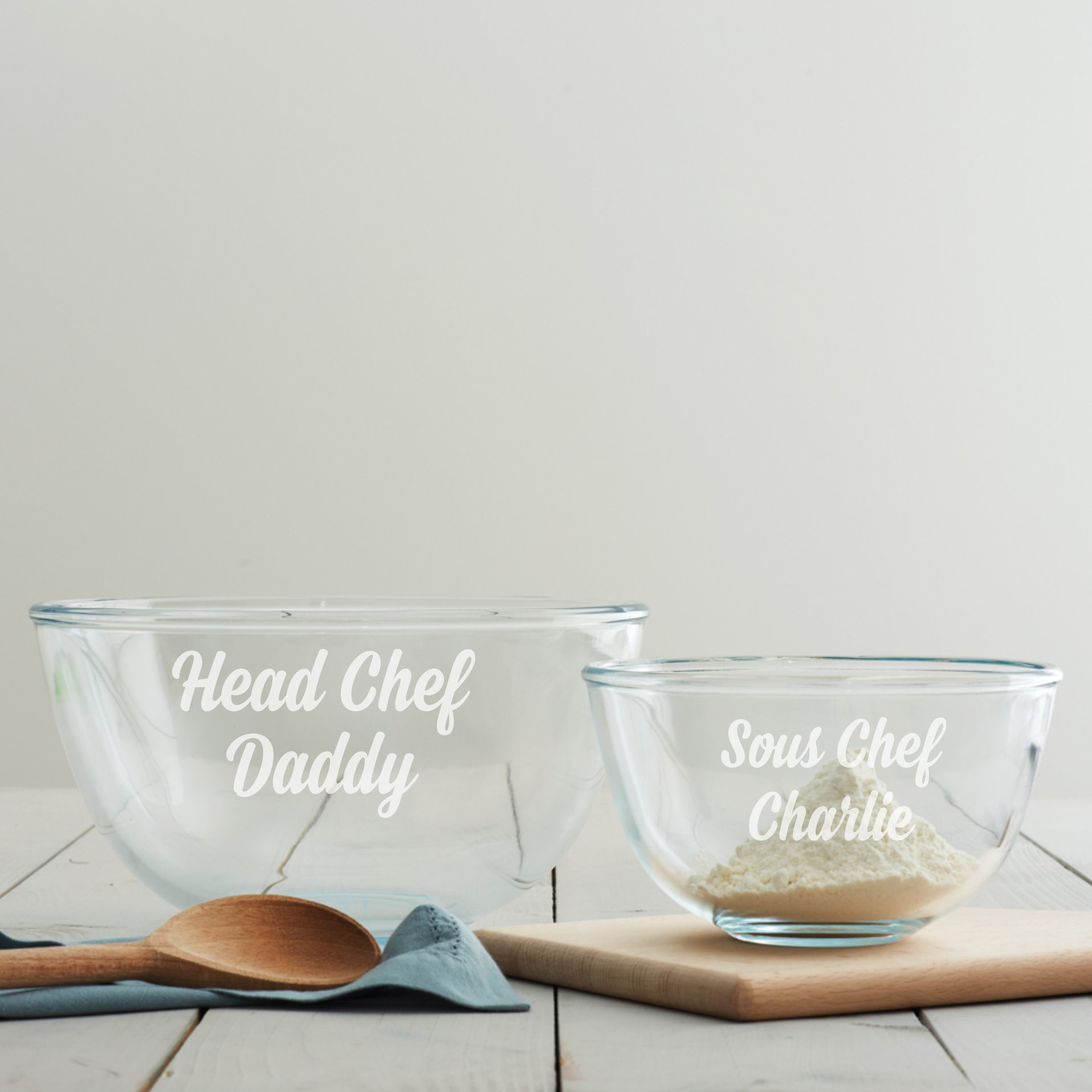 Personalised Father's Day Mixing Bowl Set