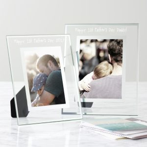 Personalised First Father's Day Glass Edged Photo Frame