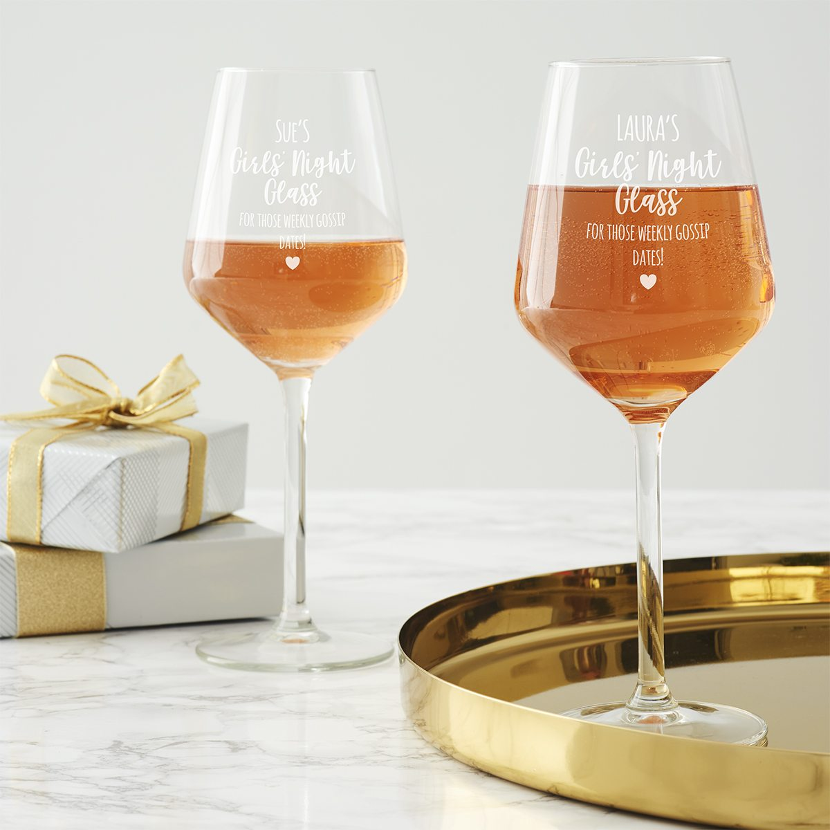 Personalised Girls Night Wine Glass