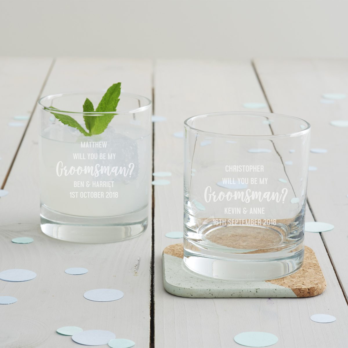 Personalised 'Will You Be My Groomsman' Tumbler Glass
