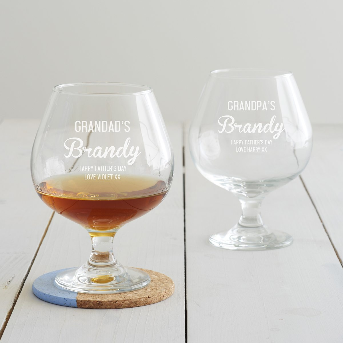 Personalised Brandy Glass For Grandad