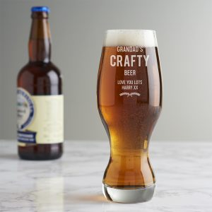 Personalised Craft Beer Glass