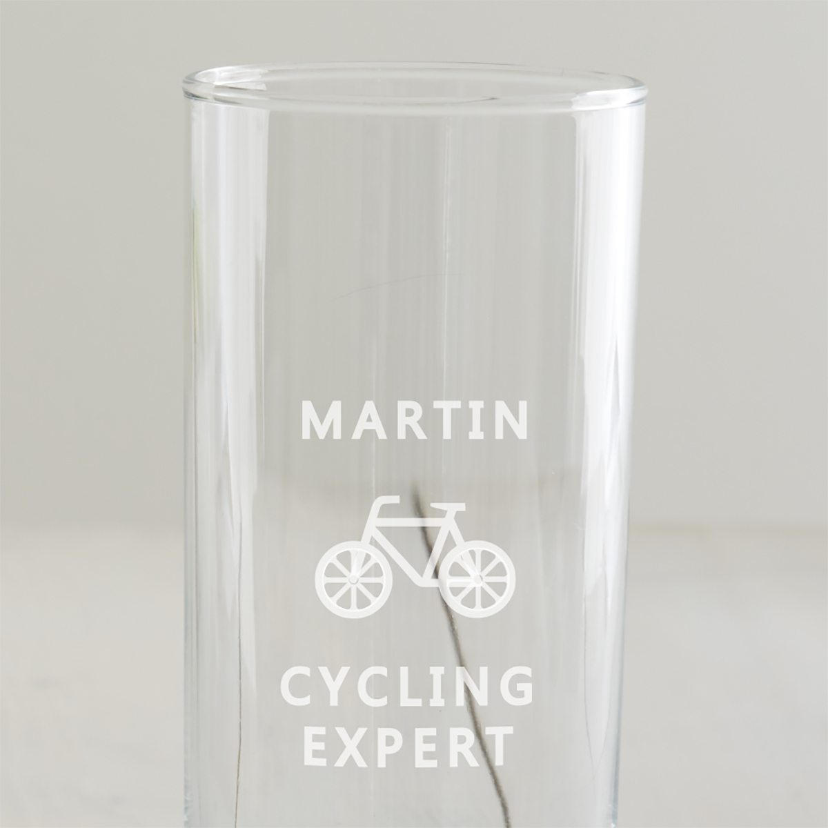 Personalised Cycling Hi Ball Glass