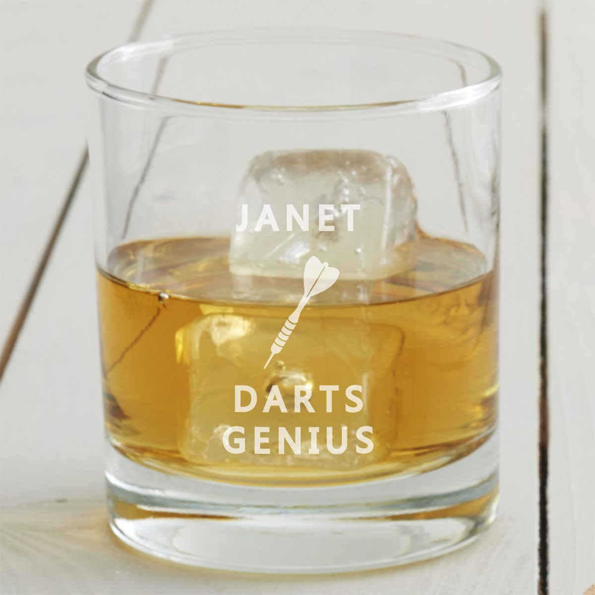 Personalised Darts Tumbler Glass