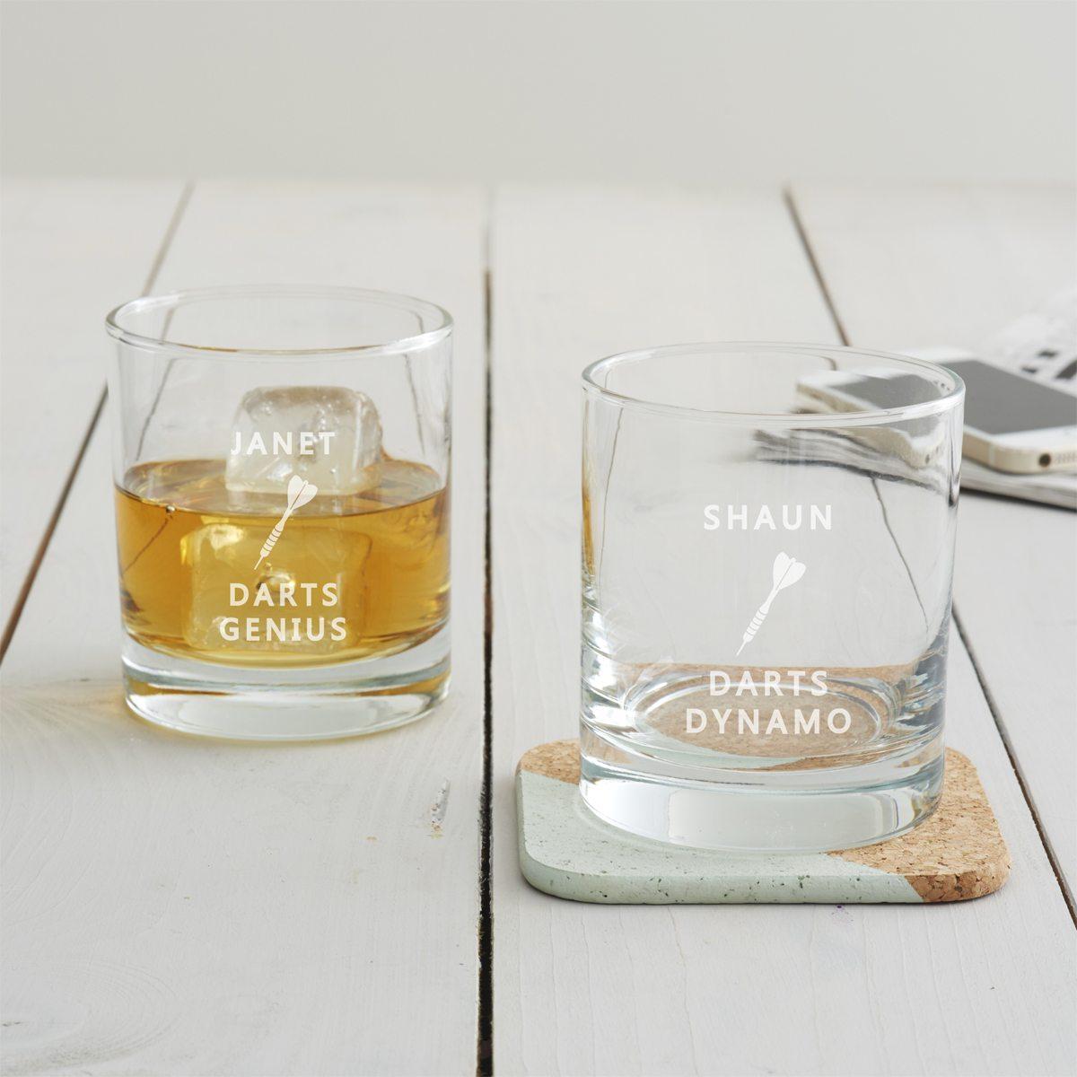 Personalised Darts Tumbler Glass