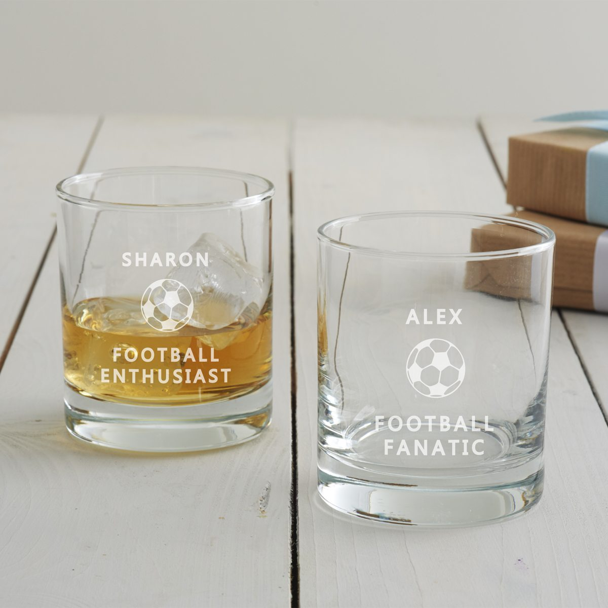 Personalised Football Tumbler Glass