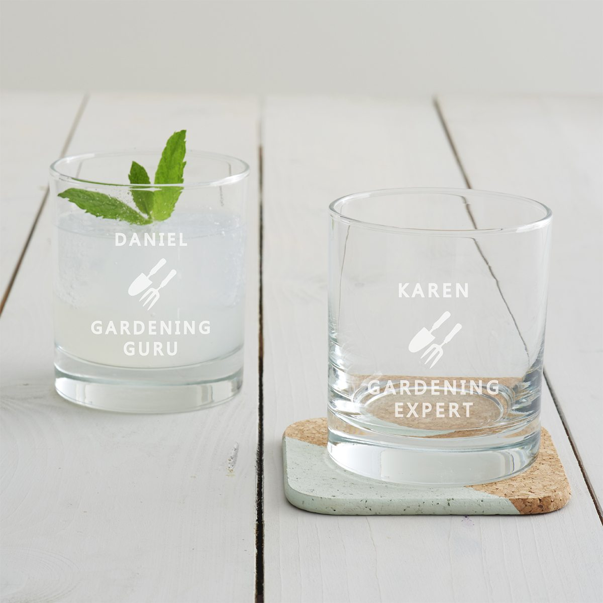 Personalised Gardening Tumbler Glass