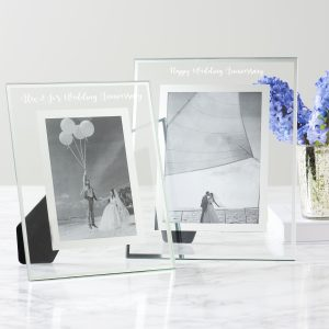 Personalised Glass Edged Anniversary Frame