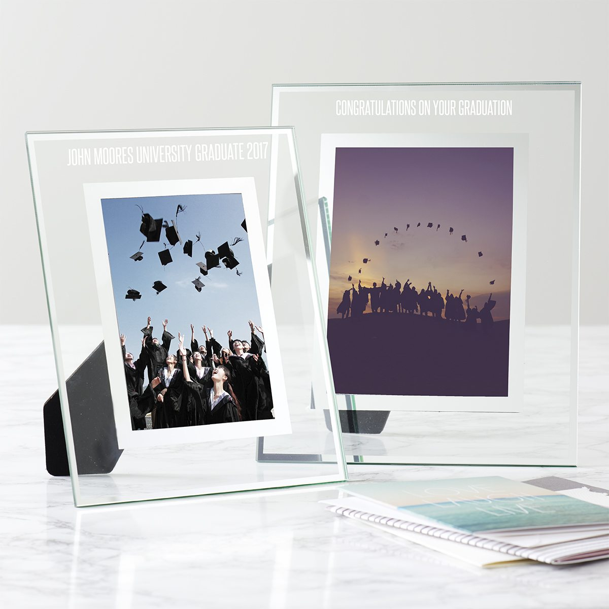 Personalised Graduation Glass Edged Photo Frame
