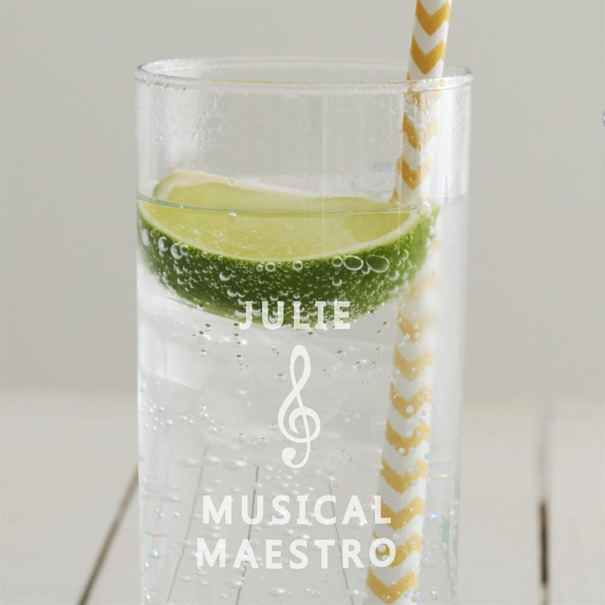 Personalised Music Hi Ball Glass