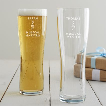 Personalised Music Pint Glass