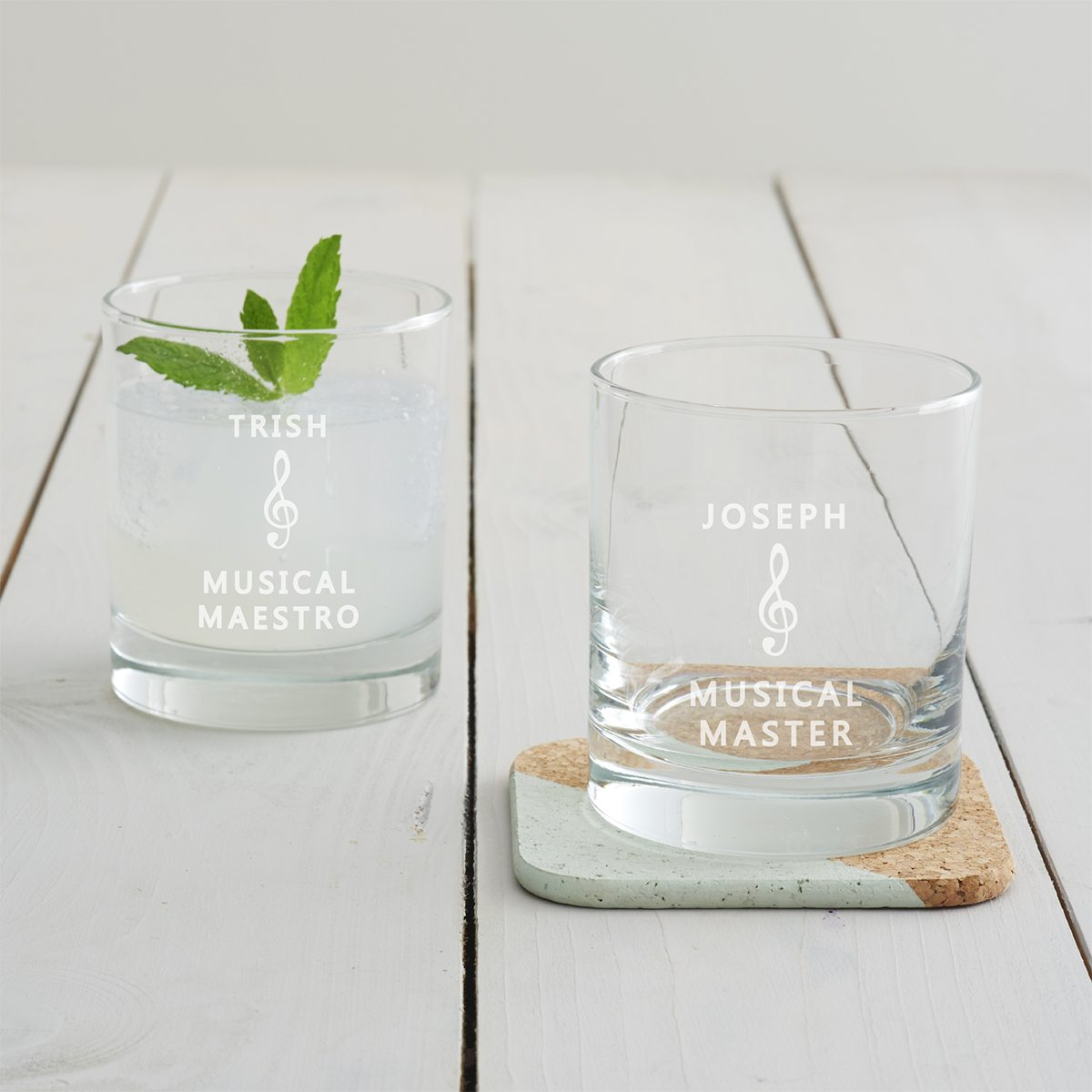 Personalised Music Tumbler Glass