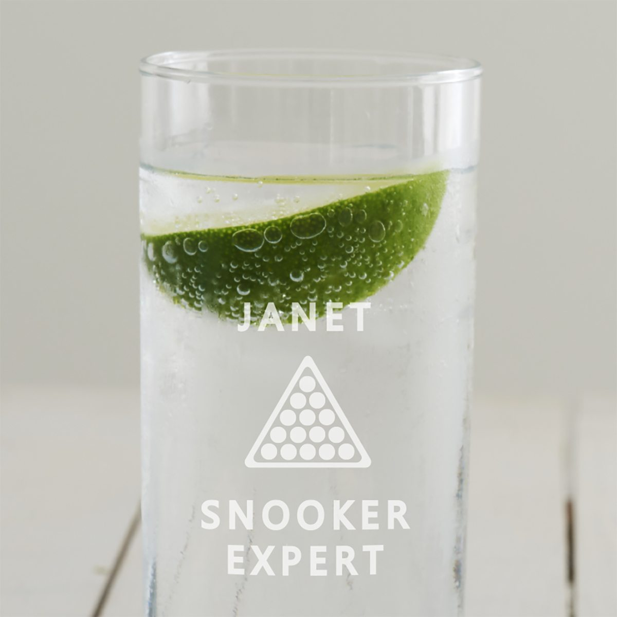Personalised Snooker Hi Ball Glass