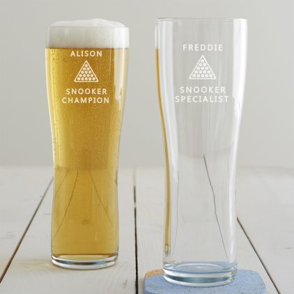 Personalised Snooker Pint Glass