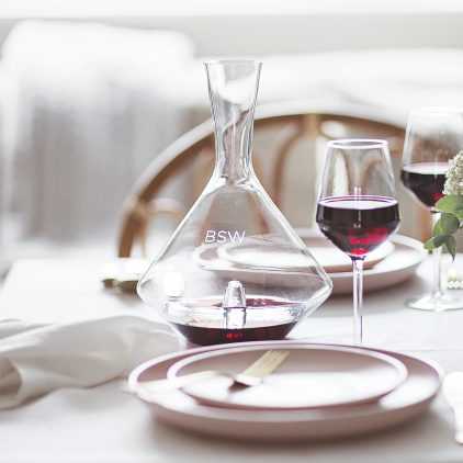Personalised 'Initials' Wine Decanter Lifestyle