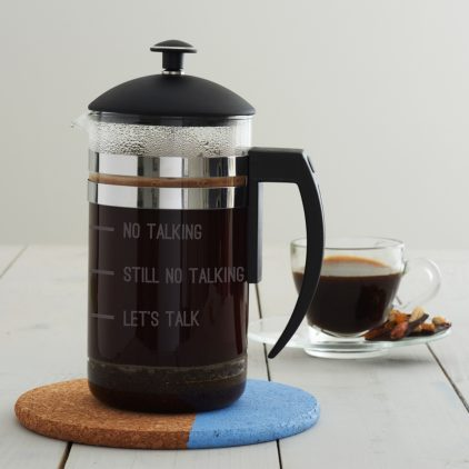 'No Talking' Measures Cafetiere