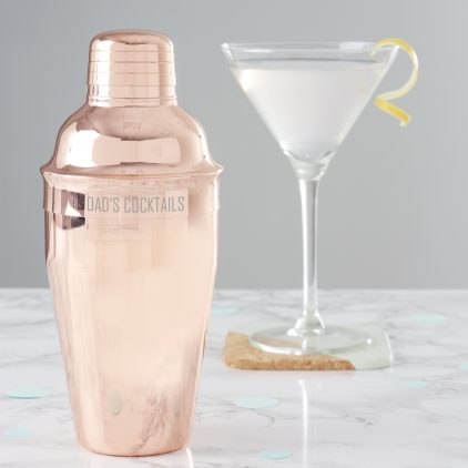 Personalised Copper Cocktail Shaker For Dad