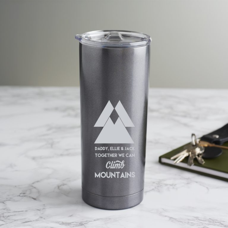 Personalised Mountain Travel Cup